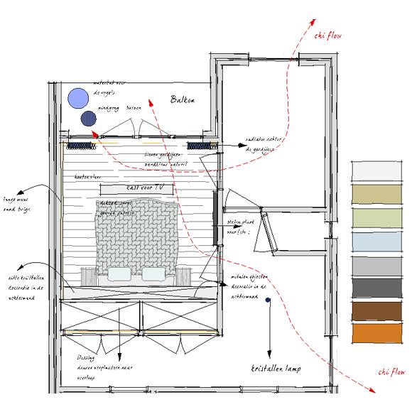Stunning feng shui slaapkamer ontwerp with feng shui for Feng shui kleuren